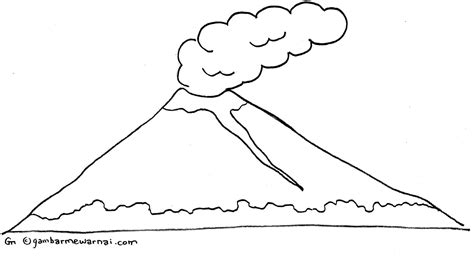 gambar mewarnai gunung gambar mewarnai