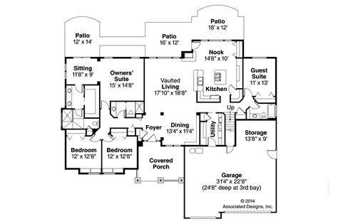 Craftsman Floor Plan | 30 harmonious craftsman floor plans home building plans