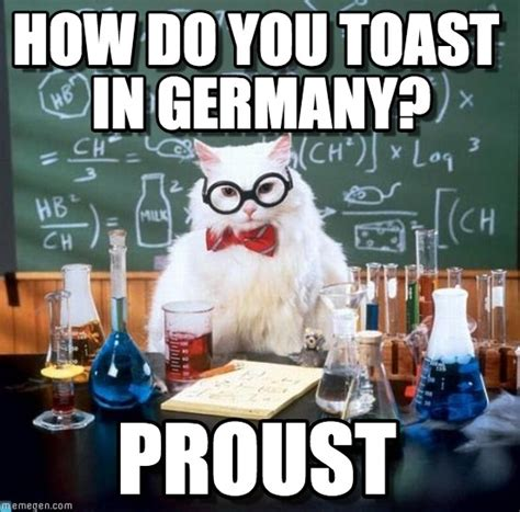 Cat Toast Meme - toasting in foreign languages chemistry cat meme on memegen
