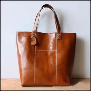 Handmade Totes And Purses - handmade large leather tote bag bag shopper bag