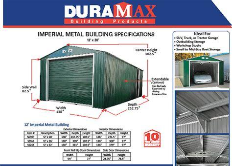 duramax shedsx metal imperial storage shed garage