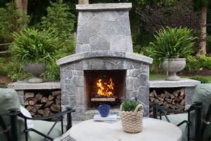 outdoor kitchen bbq grill patio fireplace designs