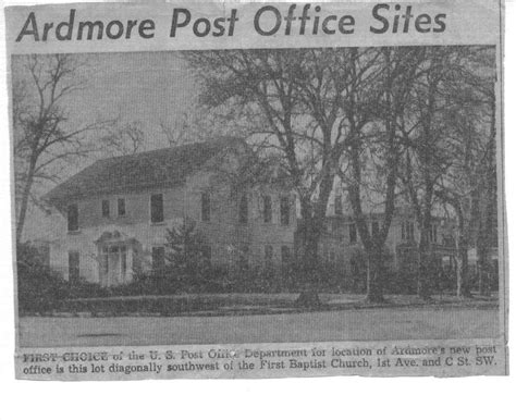 Ardmore Post Office Hours by This And That Newsletter