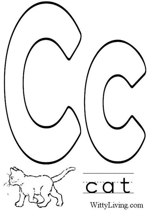 coloring pages letter c kids crafts for kids to make