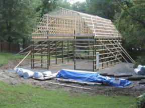 Gambrel Pole Barn Pole Barn With Gambrel Roof Truss Kit Pa Nj Apm Buildings