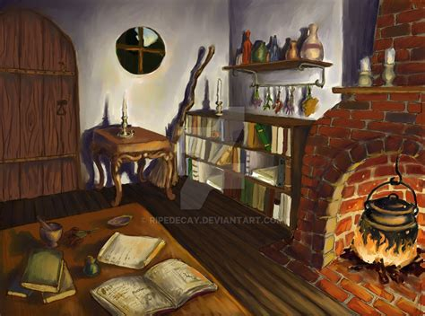 witch s cottage interior by ripedecay on deviantart