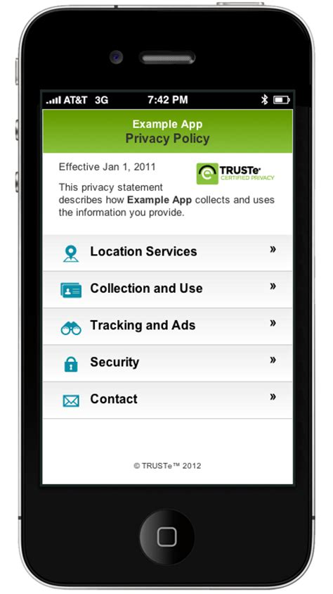 privacy policy template for apps mobile app privacy policies are now the trustarc