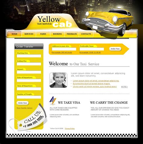 Taxi Website Template Web Design Templates Website Templates Download Taxi Website Template Taxi Website Template