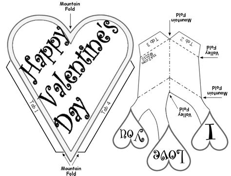 valitines day card template free s day pop up card
