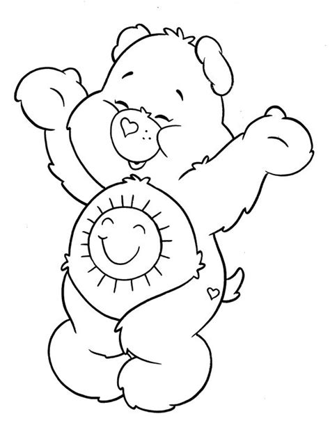 cheer bear coloring pages cheer bear coloring pages