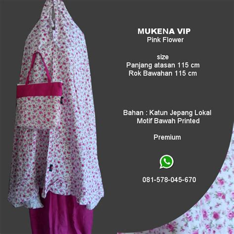 Grosir Mukena Jumbo Katun Jepang Flower Pink Rh mukena vip pink flower grosir pesan mukena katun jepang santung bordir batik bali murah anak