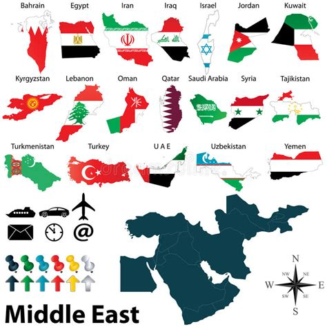 middle east map free vector maps of middle east stock vector illustration of arab