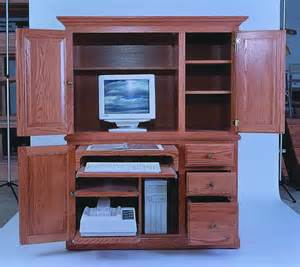 amish 54 quot computer armoire desk amish computer armoires 7045