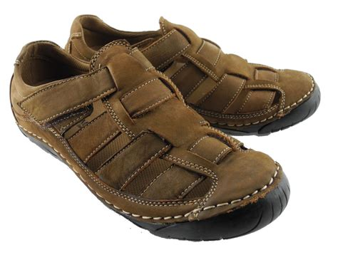 closed toe sandals mens mens nubuck leather closed toe sandals summer trail shoes