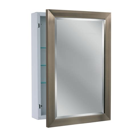 bathroom mirrored medicine cabinets shop allen roth 22 25 in x 30 25 in rectangle surface
