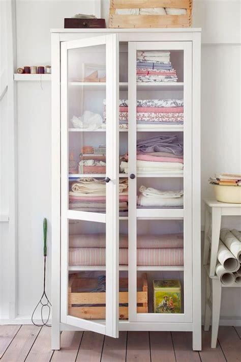 Linen Cabinets With Glass Doors Linen Closet Storage Freestanding Cabinet Hemnes Glass Door Cabinet From Ikea Organization