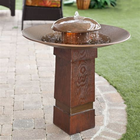bird bath and pedestal style fountains bird bath