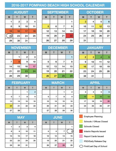 Broward College Academic Calendar 2017 2016 Broward School Calendar