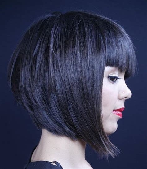 layered bob with bangs pictures 70 best a line bob haircuts screaming with class and style
