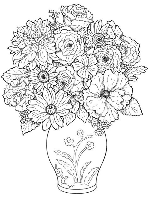 coloring pages printables flowers for adults realistic flower az coloring pages