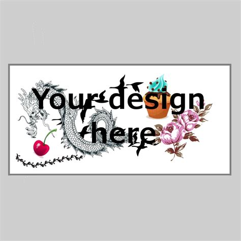 design your own stick on tattoo custom temporary rectangle tattumi temporary