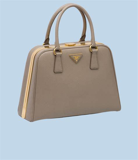 Prada Purse by Prada Pyramid Saffiano Calf Leather Hinge Bag