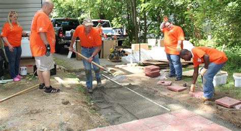 sparta elks and home depot team up to improve veteran s