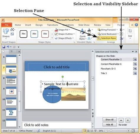 tutorialspoint powerpoint arrange shapes images in powerpoint 2010
