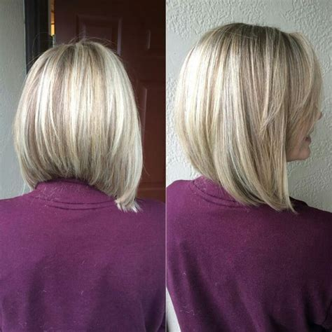 love this cut hair pinterest blonde bobs blondes a line haircut with cool blonde highlights love my new