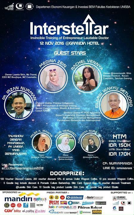 interstellar seminar kewirausahaan  calon dokter