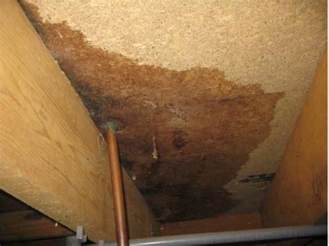 second floor bathroom leak elim property inspections