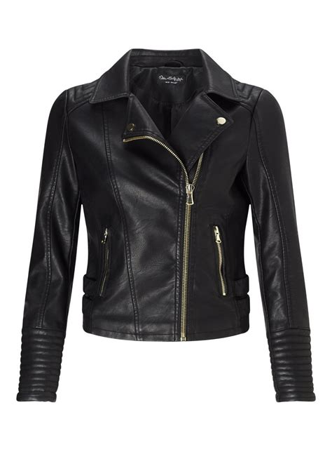 Faux Leather Jacket black elsy faux leather biker jacket yourweekoffashion