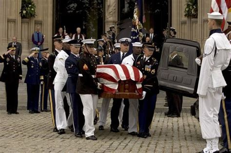 the casket of former president ronald is loaded