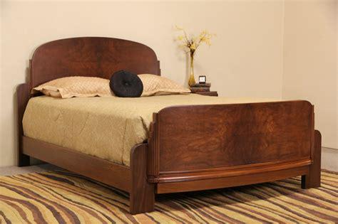 antique queen bed sold art deco 1930 s vintage walnut burl queen size bed