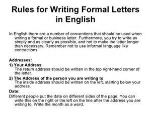 Business Letter Salutation Dear Writing A Formal Letter