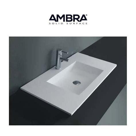 Ordinary Meuble Salle De Bain Un Vasque Avec 2 Mitigeurs #8: Ambra-plan-vasque-integree-90cm-solid-surface.jpg