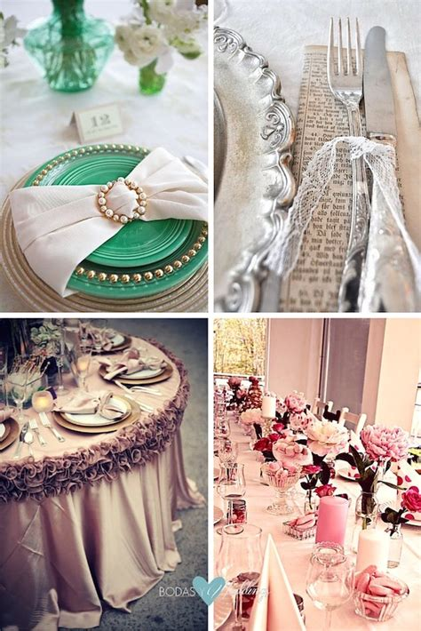 decoracion mesas vintage decoraci 243 n de mesas para fiestas de casamiento