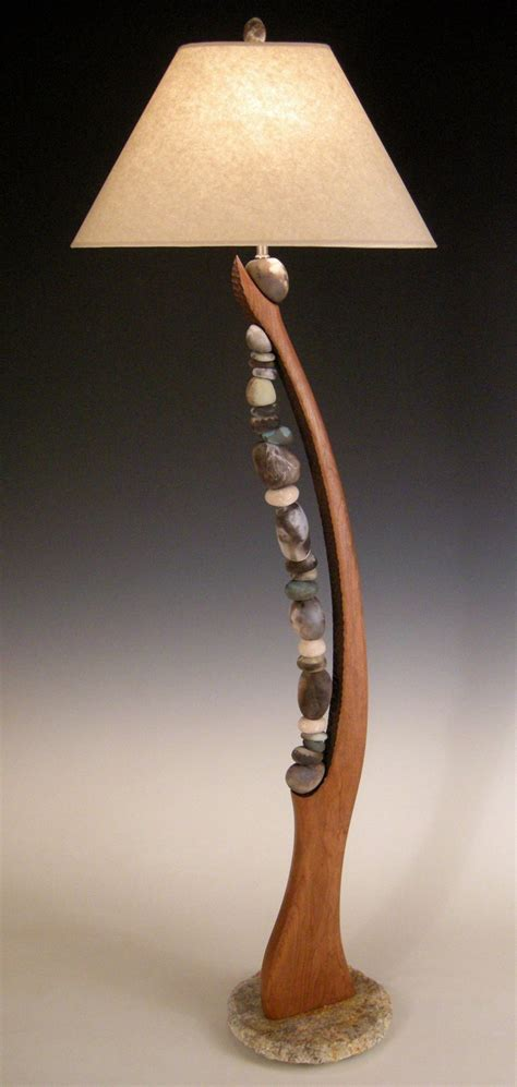 Pottery Lamp Base by Stone Harp By Jan Jacque Ceramic Amp Wood Floor Lamp