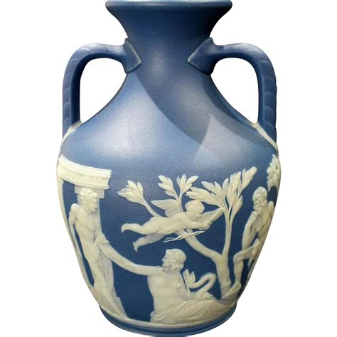 Portland Vase Wedgwood by 19th Century Wedgwood Jasperware Portland Vase Mint