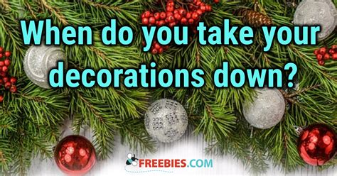 what day should you take your christmas decorations down