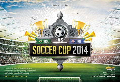 Cup Designs an essential collection of brazil world cup flyer template