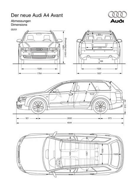 Audi A4 Avant Abmessungen by B7 A4 Interior Dimensions