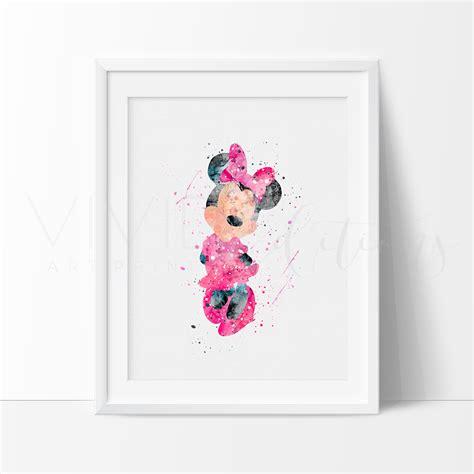 Minnie Mouse Nursery Art Print Wall Decor Vivideditions Minnie Mouse Nursery Decor