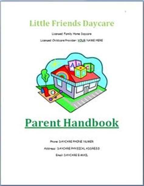 Child Care Handbook Template 1000 images about my teacherspayteachers store on