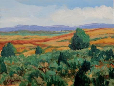santa fe landscape painting by liliane fournier