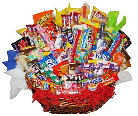 Candy Gift   Assorted Candy Gift Basket   from basketpizzazz.com