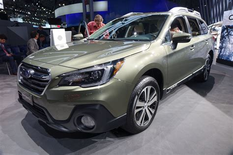 subaru outback 2018 2018 subaru outback is heavy on capability light on refresh