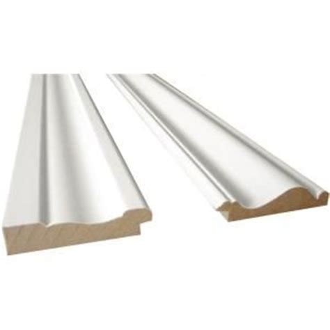 home depot chair rail molding cape cod 2 8 ft white mdf base moulding and chair