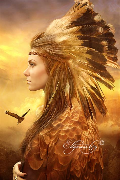 beauty india digital totem spirit eagle by ellyevans679 on deviantart