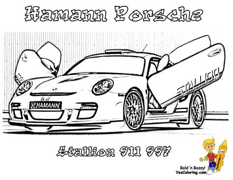 Free Coloring Pages Of Porsche 911 Gt3 Sports Cars Coloring Pages For Boys Printable
